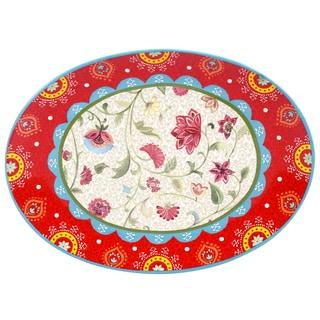 Certified International Anabelle Oval Platter 16-inch x 12-inch