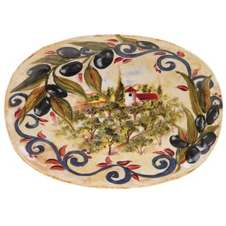 Certified International Umbria Oval Platter 17.25-inch x 12.5-inch