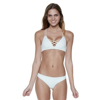 Dippin' Daisy's Mint Nude Two-Piece Layered Criss-Cross Strappy Seamless Bandeau Bikini (3 options available)