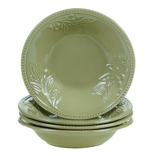 Certified International Bianca Green Soup/Pasta Bowl 9.5-inch x 2-inch (Set of 4)
