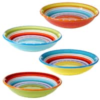 Certified International Mariachi Assorted Designs Ceramic 9.25-inch Soup/Pasta Bowls (Set of 4)