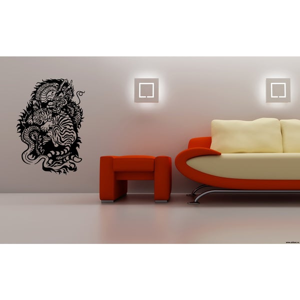 Tiger and Dragon Wall Art Sticker Decal