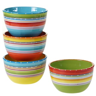 Certified International Mariachi 5.25-inch Ice Cream Bowls (Set of 4) Assorted Designs