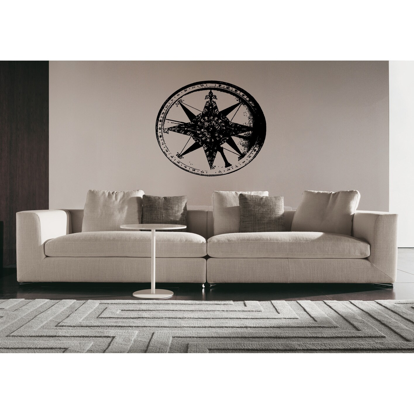 Amazon Com Digtour Wallart Compass Wall Decal Vinyl Compass Wall Sticker Compass Rose Wall Decal Wall Graphic Wall Mural Home Art Wall Decoration A Brown Home Kitchen