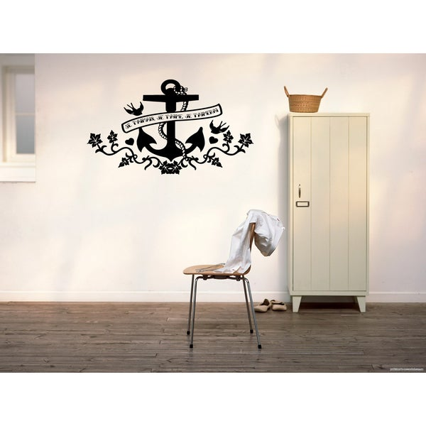 shop anchor and flowers wall art sticker decal - free shipping on