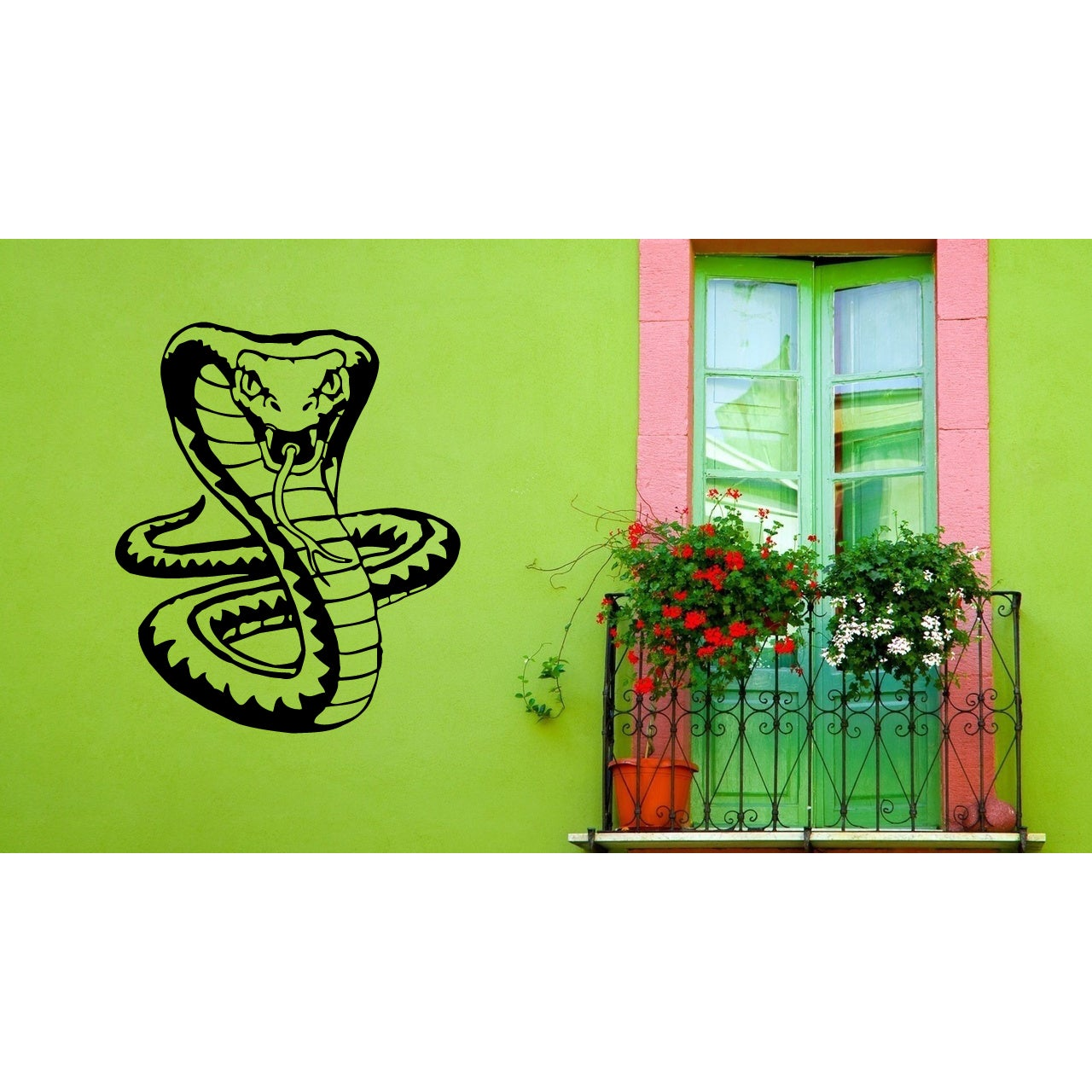Snake Attacks Wall Art Sticker Decal (22 inches x 24 inch...
