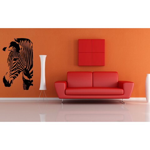 Zebra Portrait Wall Art Sticker Decal