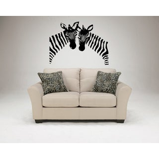 Zebra head Wall Art Sticker Decal