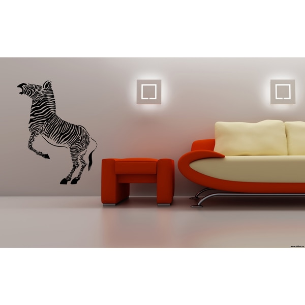 Zebra jumping Wall Art Sticker Decal