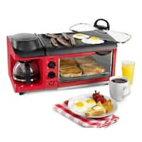 Nostalgia Electrics BSET300RETRORED Retro Series 3-in-1 Breakfast Station