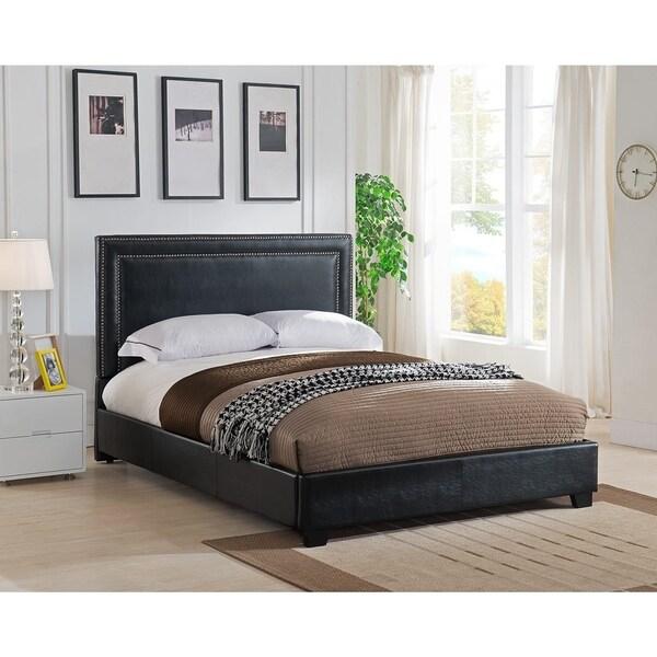 Rize Baffin King Size Black Leather Platform Bed