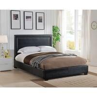 Baffin, King Size, Black Leather Platform Bed