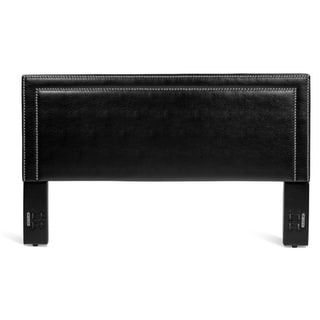 Rize Baffin Full and Queen Size Black Leather Headboard