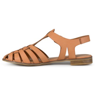 Journee Collection Women's 'Tyla' Round Toe Buckle T-strap Sandals
