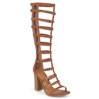Journee Collection Women's 'Kellin' Tall Strappy Heeled Gladiator Sandals