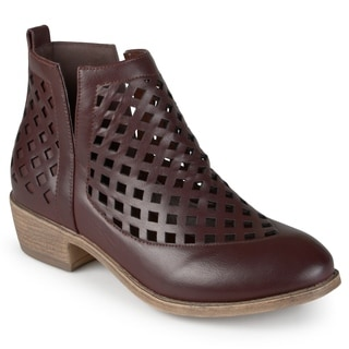 Journee Collection Women's 'Kat' Cut-out Caged Ankle Booties