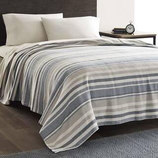 Eddie Bauer Herringbone Blue Stripe Blanket|https://ak1.ostkcdn.com/images/products/11445420/P18404885.jpg?impolicy=medium