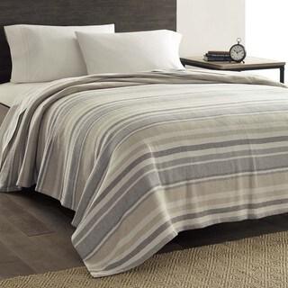Eddie Bauer Herringbone Sand Stripe Blanket