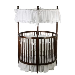 Angel Line Traditional Round Crib in Cherry