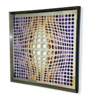 Designart -Contemporary Mirror - Framed 3D Acrylic Mirror -Fire & Ice Background - Silver/Grey