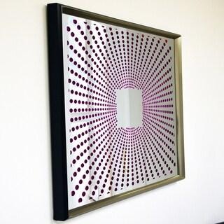 Designart - Modern Mirror 'Sunburst' Framed 3D Acrylic Mirror Art