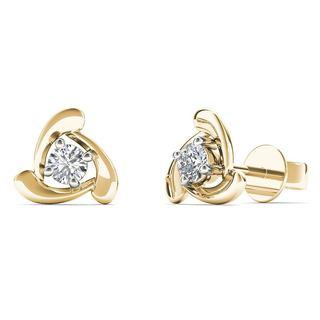 10k Yellow Gold 1/8ct TDW Diamond Fashion Stud Earrings (H-I,I1-I2)