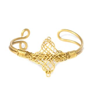 Handmade Woven Diamond Cuff (India)|https://ak1.ostkcdn.com/images/products/11445508/P18404954.jpg?impolicy=medium