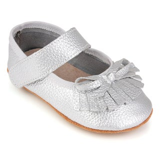 Augusta Baby Anna Bree Soft Sole Baby Shoes (Option: Silver - 3 - 6 Months)