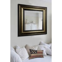 American Made Rayne Stepped Antiqued Vanity Wall Mirror - Bronze/Black