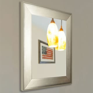 American Made Rayne Brushed Silver Wall Mirror