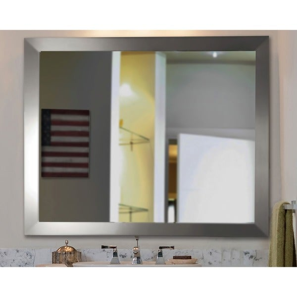 American Made Rayne Silver Wide Vanity Wall Mirror