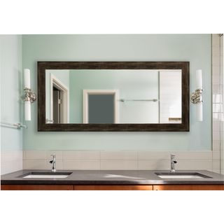 American Made Rayne Extra Large 39 x 78-inch Brushed Classic Brown Vanity Wall Mirror