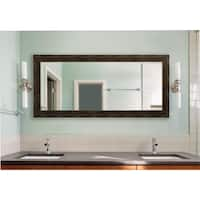 American Made Extra Large Brushed Classic Brown Vanity Wall Mirror