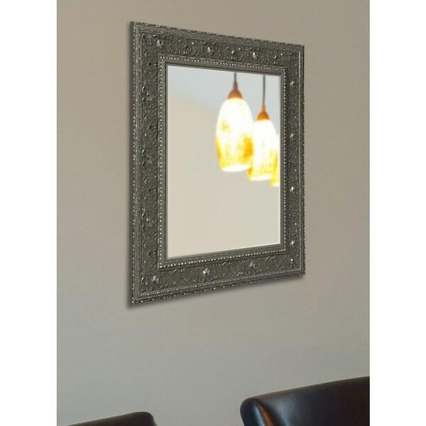 American Made Rayne Opulent Silver Vanity Wall Mirror