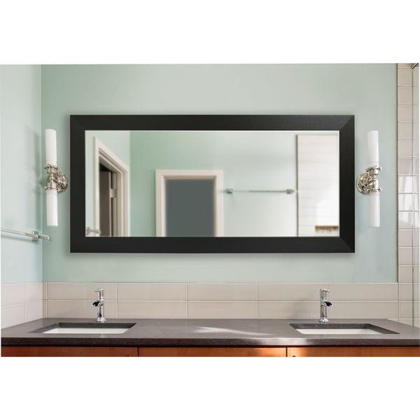 American Made Extra Large Black Carbon Fiber Mirror