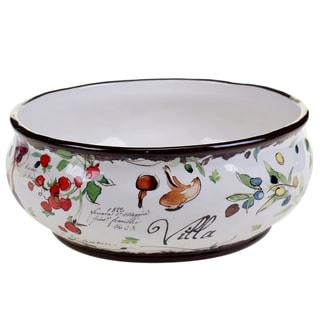 Certified International Villa Deep Bowl 11-inch x 4.25-inch