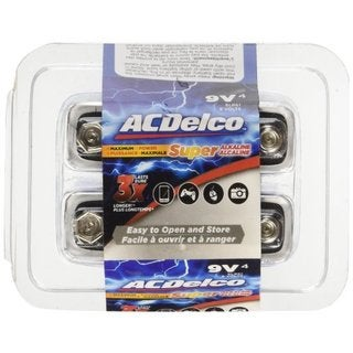 ACDelco 9-Volt Super Alkaline Batteries, 12-Count