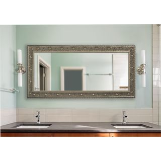 American Made Extra Large Opulent Silver Vanity Wall Mirror