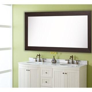 American Made Rayne Extra Large Black Walnut Mirror