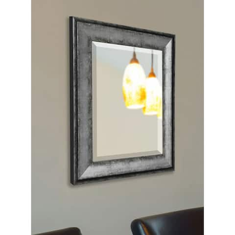 American Made Rayne Sterling Charcoal Wall/ Vanity Mirror - Silver/Grey