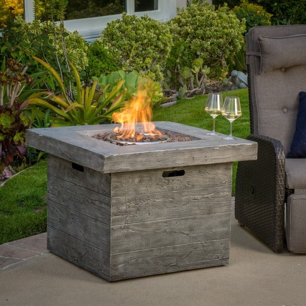 Dakota Outdoor Fire Pit With Lava Rocks By Christopher