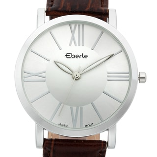 Eberle Men's Renzo Soft Genuine Croc Grain Leather Watch