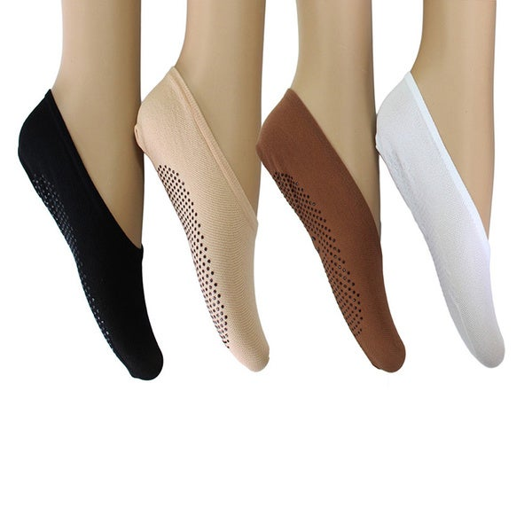 4a491846b26 Women's No-Show Liner Socks with Non-Slip Grips (12 Pairs)