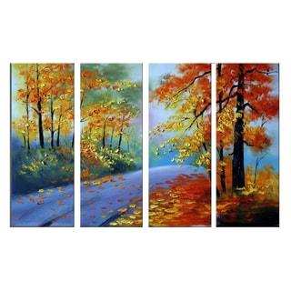 Hand-painted Highly Textured Forest Art 1090