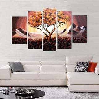 Hand-painted Brown Tree Art Painting 1099