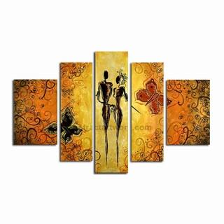 Hand-painted Black Human Figure Art Painting 248