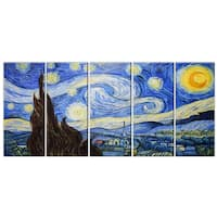 Hand-painted Starry Night Van Gogh Reproduction on Canvas