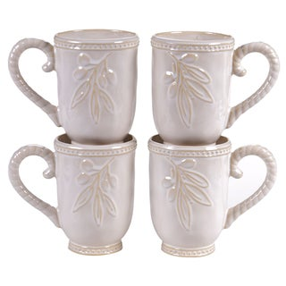 Certified International Binaca Ivory 18-ounce Mugs (Set of 4)