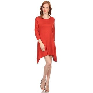MOA Collection Women's Dolman Sleeve Dress
