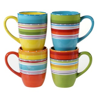 Certified International Mariachi 20-ounce Mugs (Set of 4) Assorted Designs